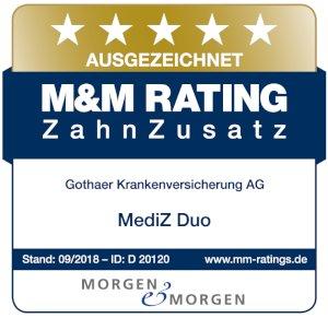 M&M Rating Gothaer MediZ Duo ausgezeichnet
